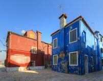 Burano island. Venice. Italy. Royalty Free Stock Photos