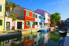 Burano island. Venice, Italy. Stock Photo
