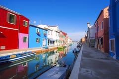 Burano island. Venice. Italy. Royalty Free Stock Photo