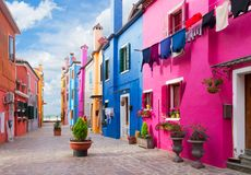 Burano island, Venice, Italy Royalty Free Stock Images