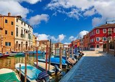 Burano island in Venice Italy Stock Photo