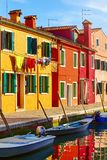 Burano island in Venice Italy picturesque sunset royalty free stock photo