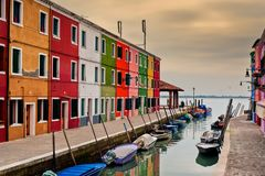 Burano island view Stock Images