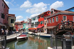Burano Island view Stock Photo