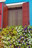Burano island window Stock Photos