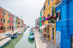 Burano, Italië Stock Afbeelding