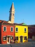 Burano, Italië, zonsopgang Royalty-vrije Stock Foto's