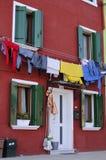 Burano (Italia) Immagini Stock