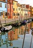 Burano Italia Fotografie Stock Libere da Diritti