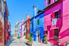 Burano, Italien Stockbild
