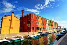 Burano Italien Arkivbilder
