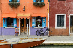 Burano Italien Lizenzfreies Stockfoto