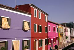 Burano, Italy. The colourful fishermen houses of Burano, Italy Royalty Free Stock Images