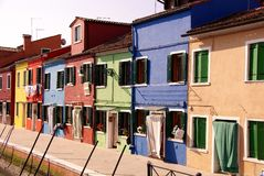 Burano, Italy. The colourful fishermen houses in Burano, Italy Stock Image