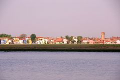 Burano, Italy. Waterfront of the fishing village Burano in Italy Royalty Free Stock Photography