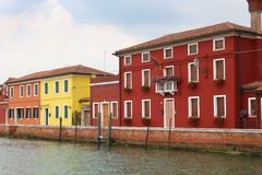 Burano, Italy houses Stock Images