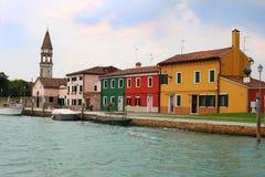 Burano, Italy houses Stock Photography