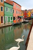 Burano, Italy houses Royalty Free Stock Photography