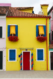 Very colourful house in Burano. Stock Image