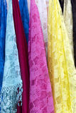 Burano lace scarf Royalty Free Stock Photography