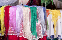 Burano lace scarf Stock Image