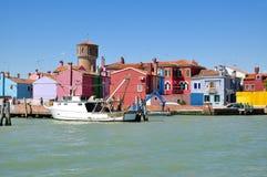 Burano, lagoa de Veneza, mar de adriático, Itália imagem de stock
