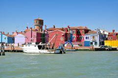 Burano, Lagune von Venedig, adriatisches Meer, Italien stockbild
