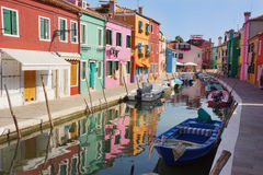 Burano in the morning royalty free stock image