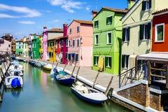 Burano by nära Venise Royaltyfria Foton
