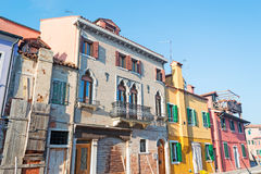 Burano old building Stock Image