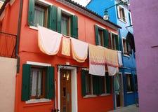 Burano. Reddish house in Burano, Venide Stock Photography