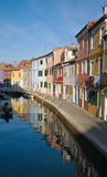 Burano reflections Royalty Free Stock Photography
