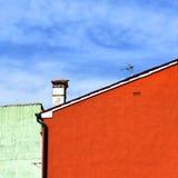 Burano roof Stock Photo