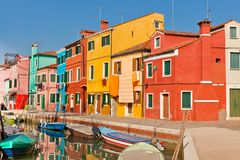 Burano's Bright Houses Royalty Free Stock Image
