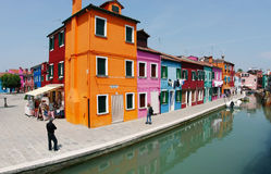 Burano's Colored Houses stock photos
