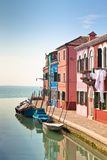 Burano's Colored Houses Royalty Free Stock Photography