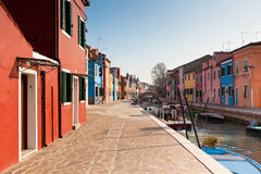Burano's Colored Houses Royalty Free Stock Photo