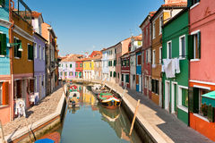 Burano's Colored Houses Stock Image
