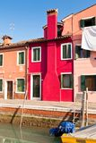 Burano's Colored Houses Stock Images