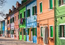 Burano's Colored Houses Royalty Free Stock Image