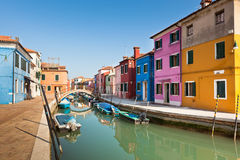 Burano S Colored Houses Stock Photography
