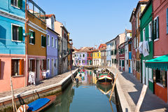 Burano's Colored Houses Royalty Free Stock Photos
