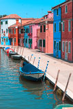 Burano's Colored Houses, Venice Stock Photography