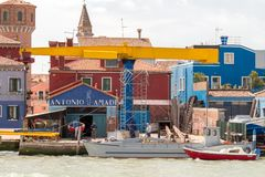 Burano. Shiprepair yard. Stock Photo