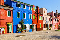 Burano square Royalty Free Stock Photography