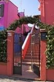 Burano, Straßendetail Stockbild
