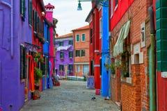 Burano street Stock Images