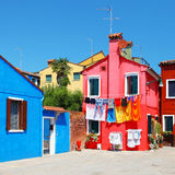 Burano street details Royalty Free Stock Photo
