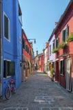 Burano street, Italy Royalty Free Stock Photography