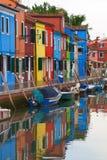 Burano town, Italy. Royalty Free Stock Photos